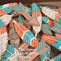 Feather decorated sugar cookies _1