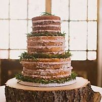 Naked tiered wedding cake _1