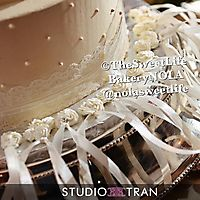 Swiss dots with lace border and Cake pulls _1